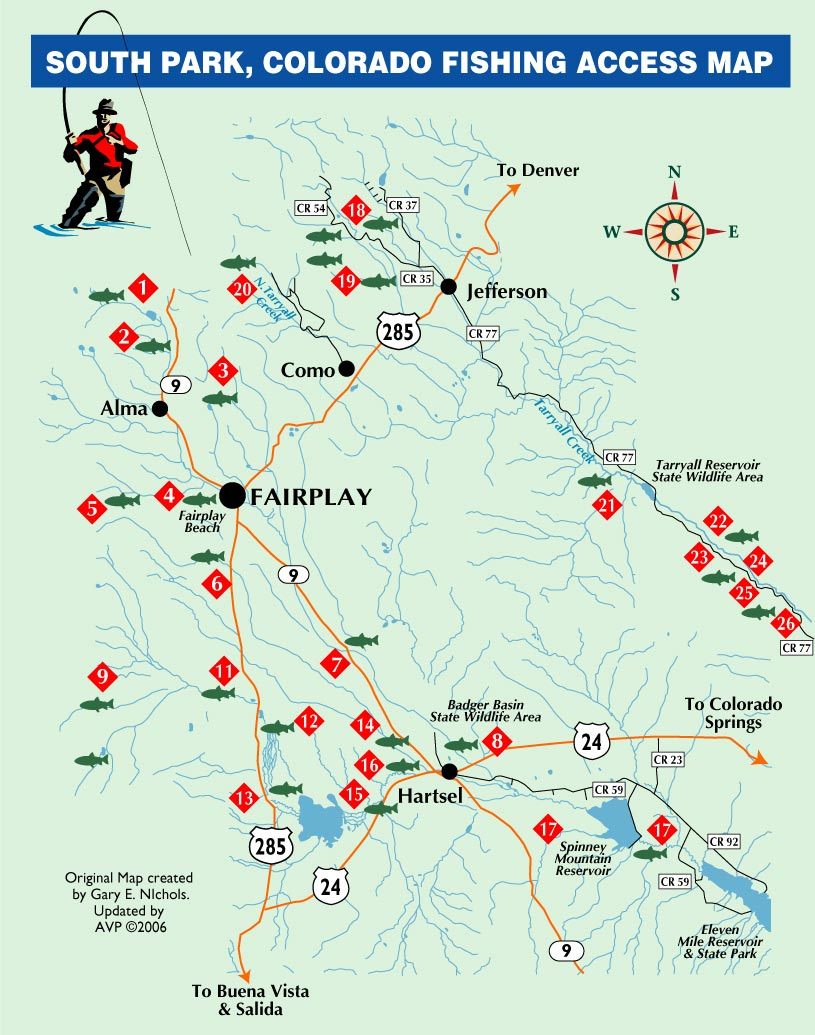 Colorado fishing reports south platte fishing maps for Colorado fly fishing map